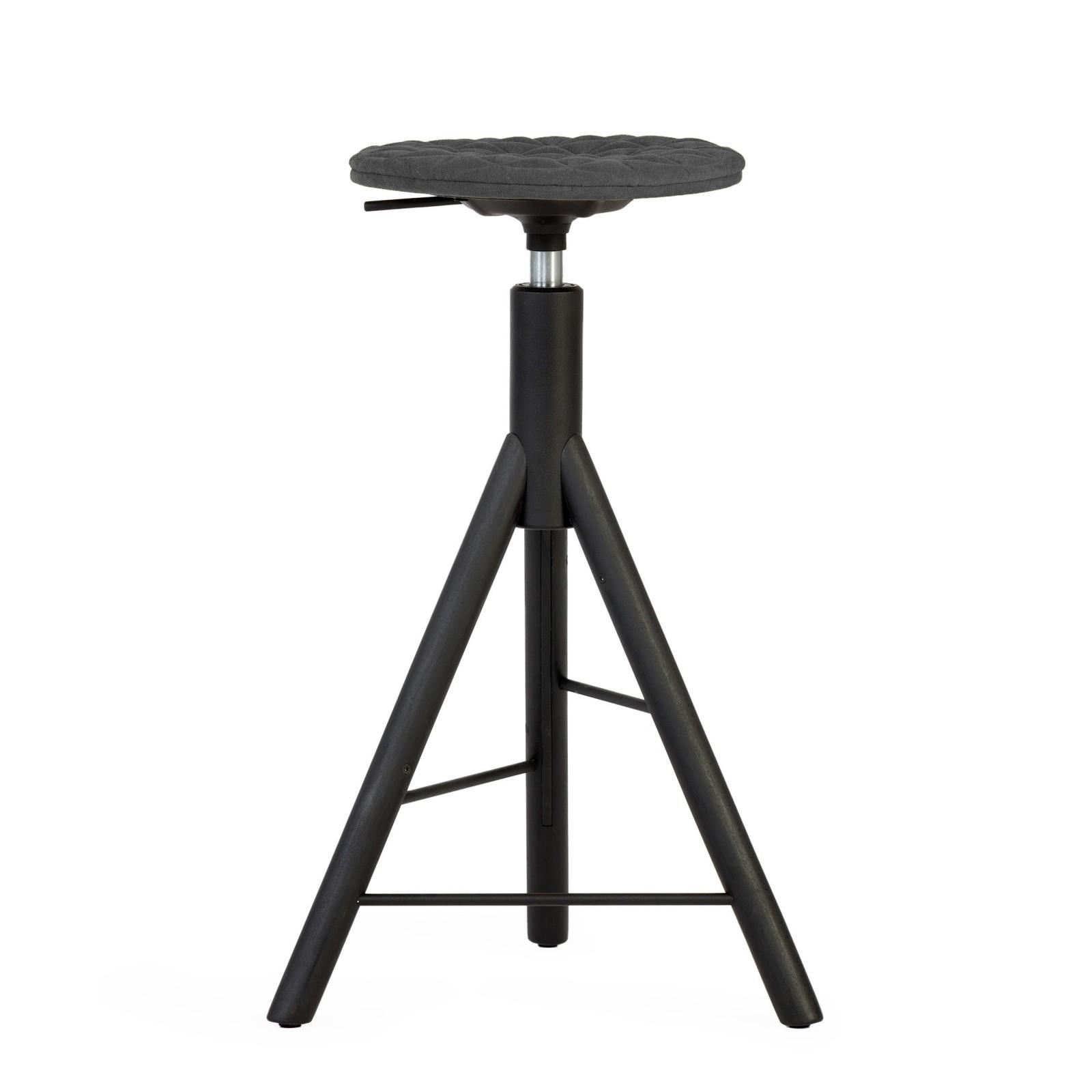 Krzesło barowe MannequinBar - 01 - ciemno szary