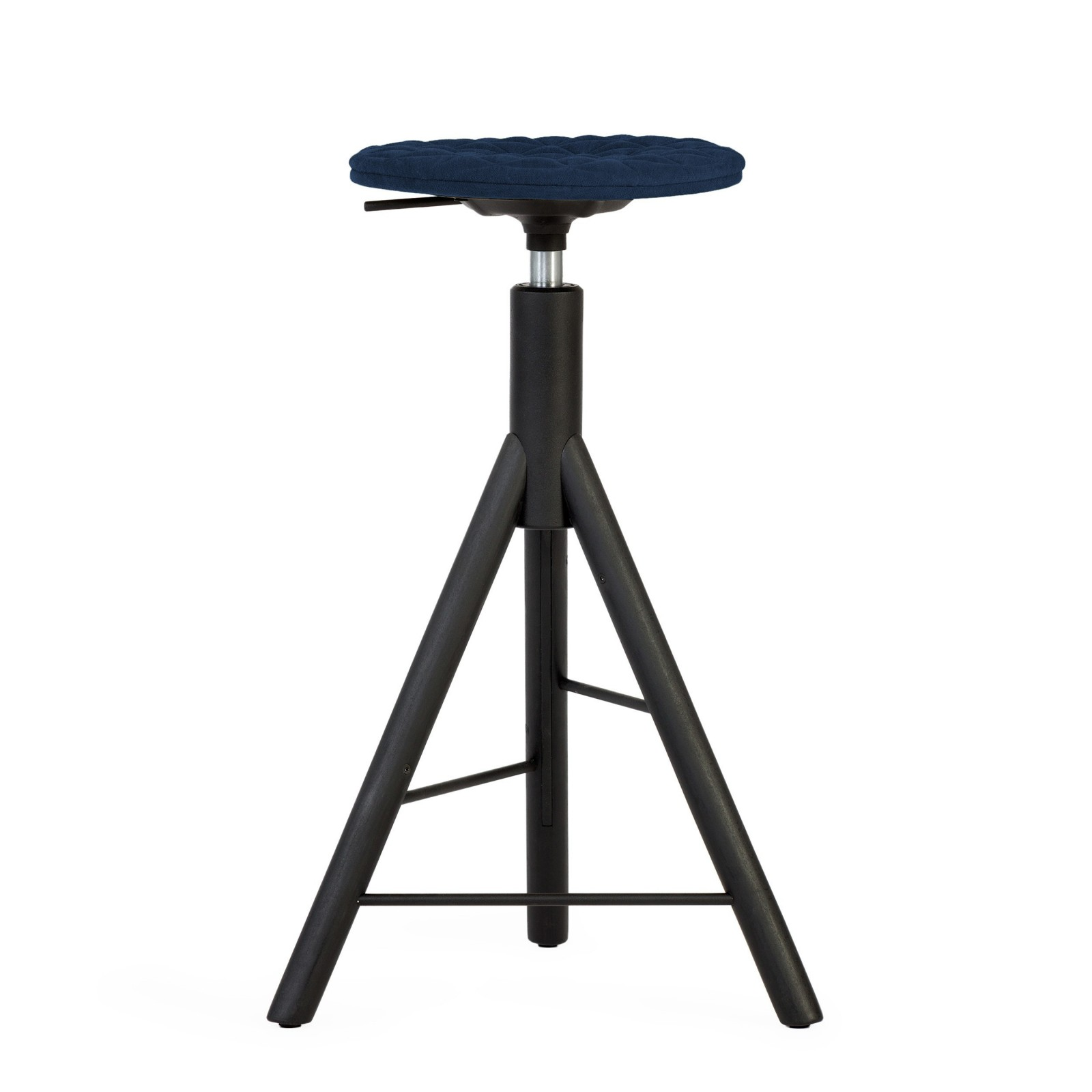 Krzesło barowe MannequinBar - 01 - granat