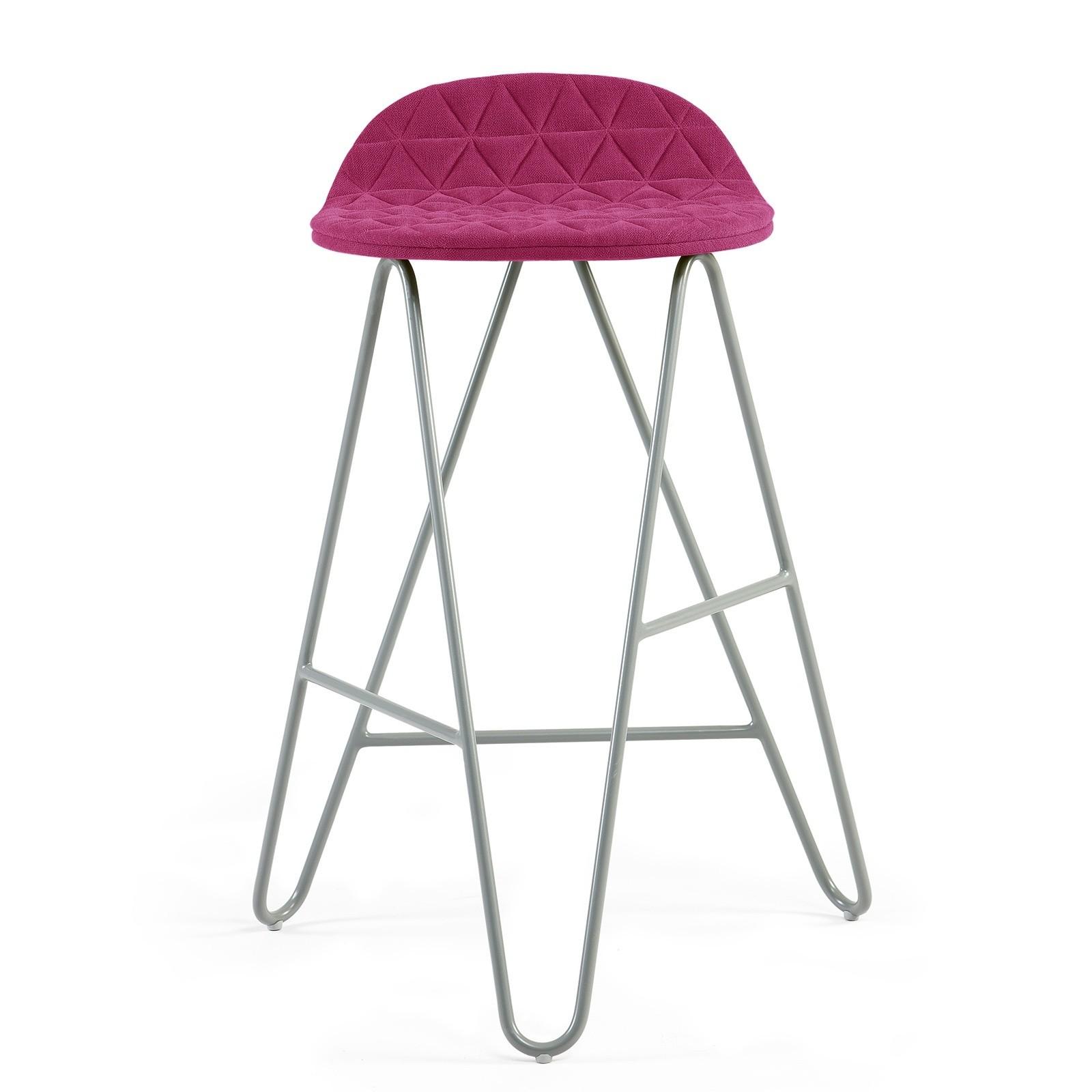 Krzesło barowe MannequinBar Low 02 - amarant