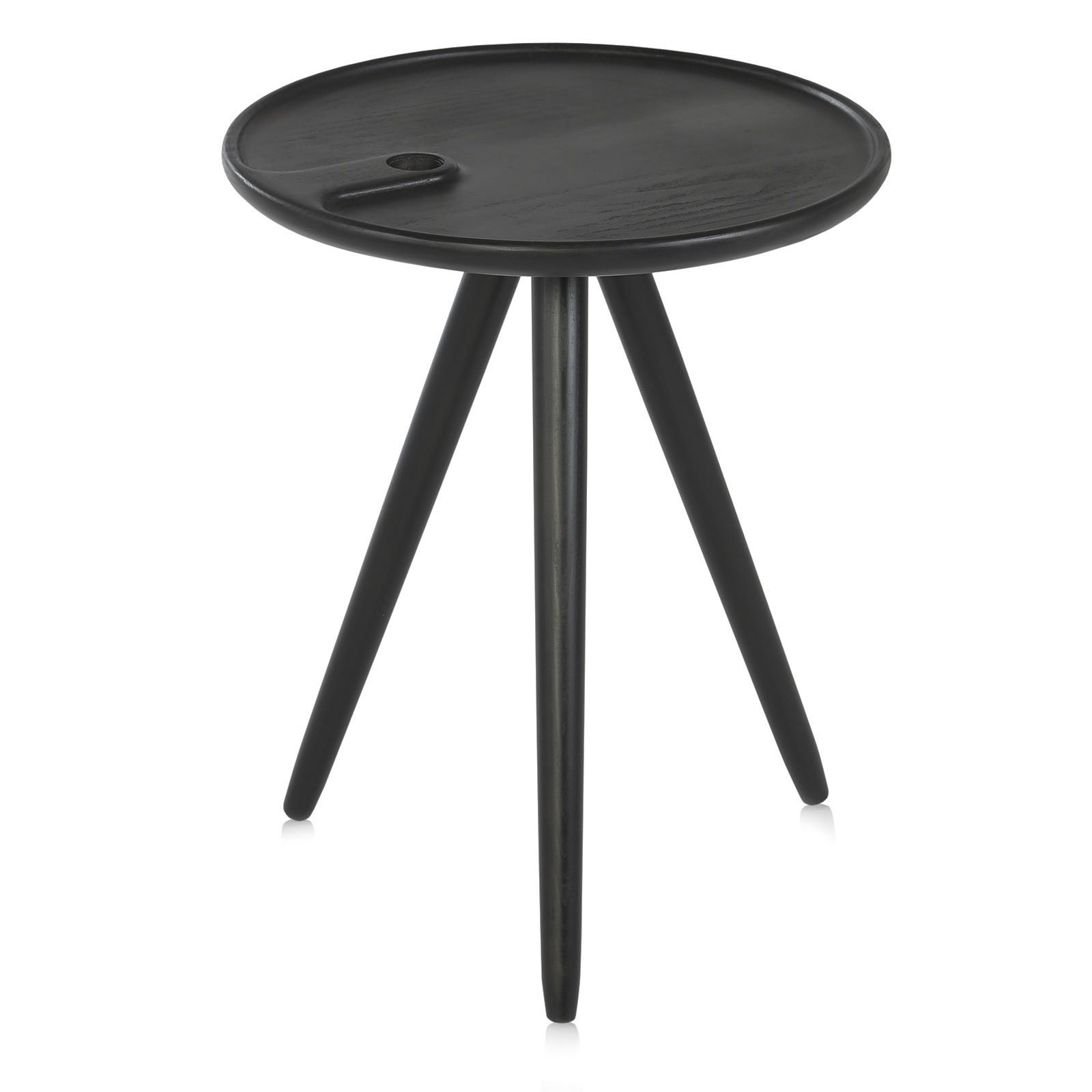 Flower coffee table - black