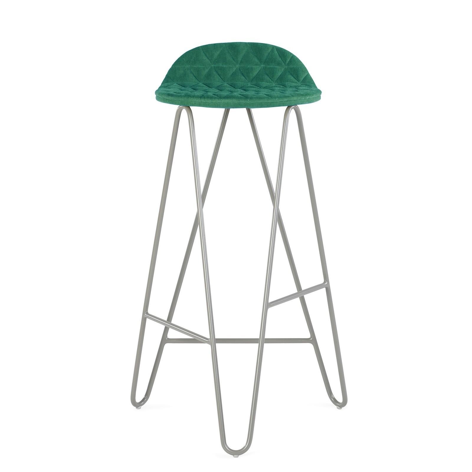 Krzesło barowe MannequinBar - 02 - turkus