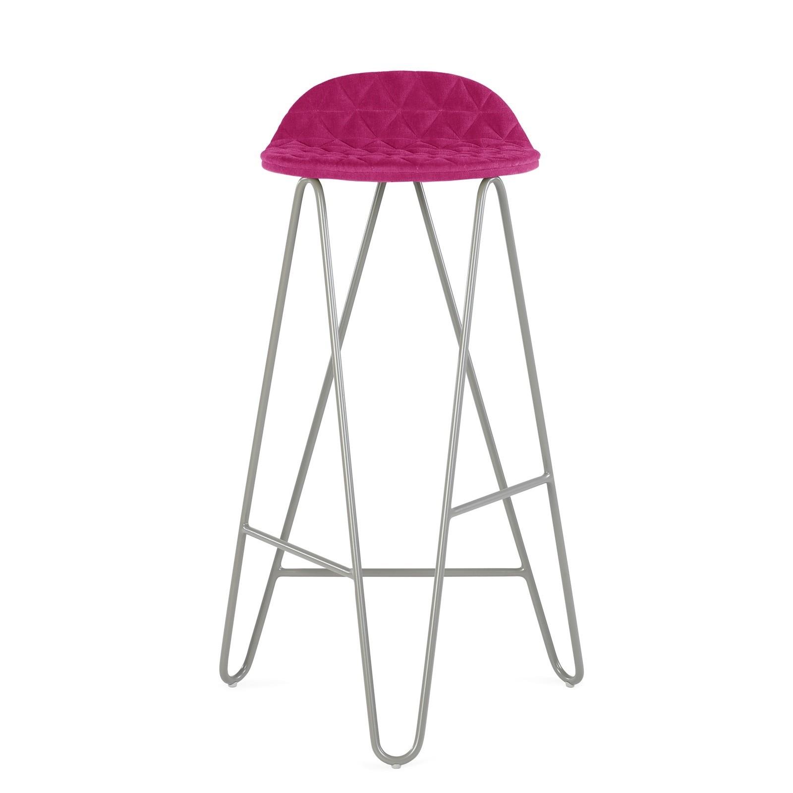 Krzesło barowe MannequinBar - 02 - amarant