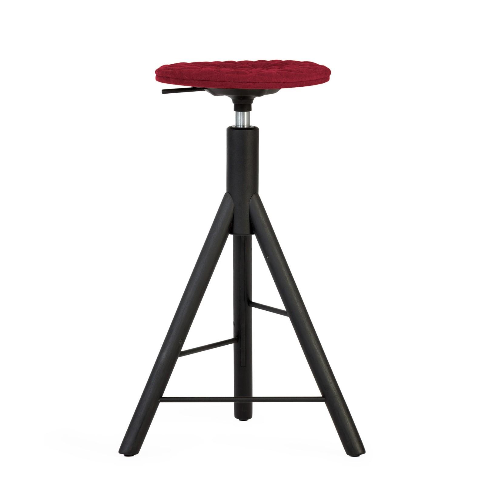Krzesło barowe MannequinBar - 01 - amarant
