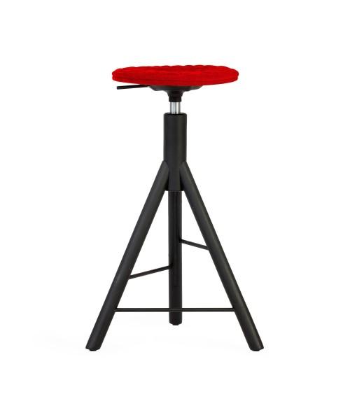 Krzesło barowe MannequinBar - 01 - czerwony