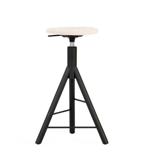 Krzesło barowe MannequinBar - 01 - ecru
