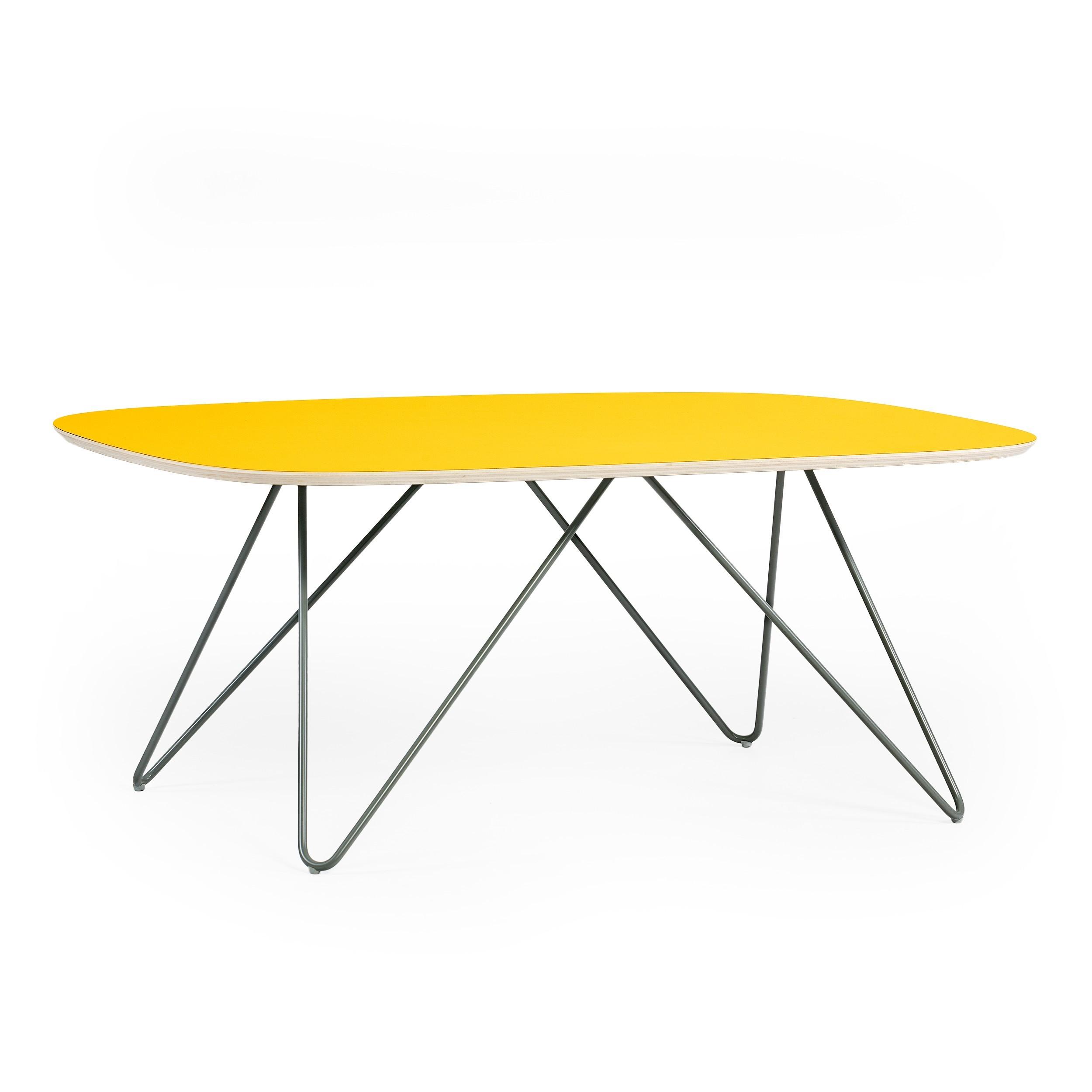 Ikea muddus klapptisch  Zig-Zag coffee table - DL - yellow - ikershop.com