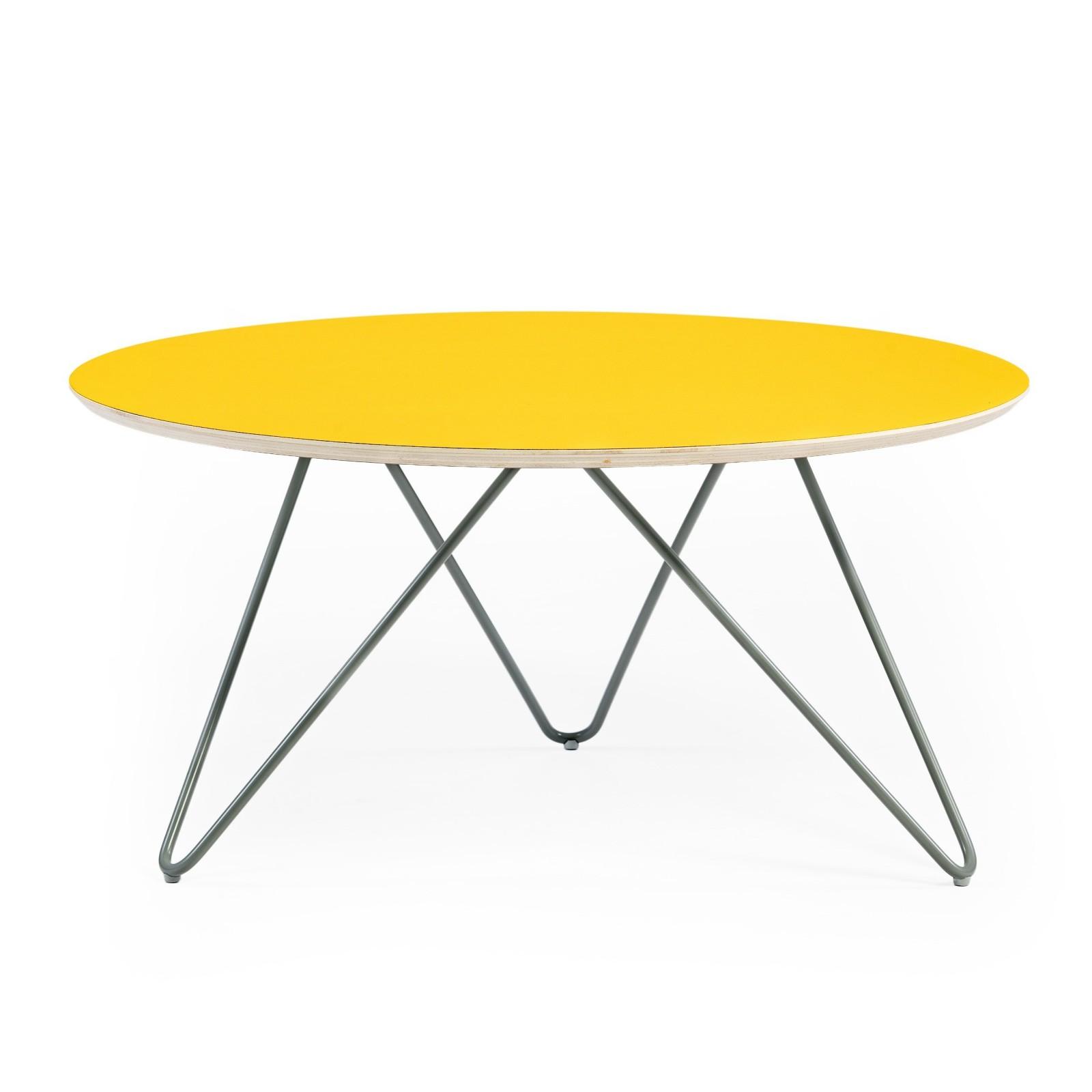 Stolik Zig-Zag R 75 - żółty