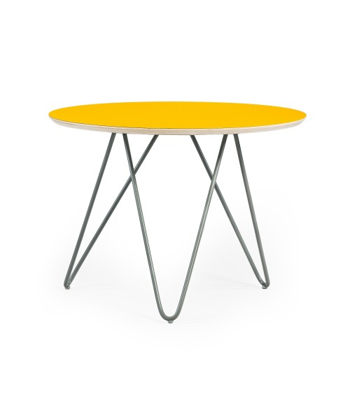 Stolik Zig-Zag R 60 - żółty