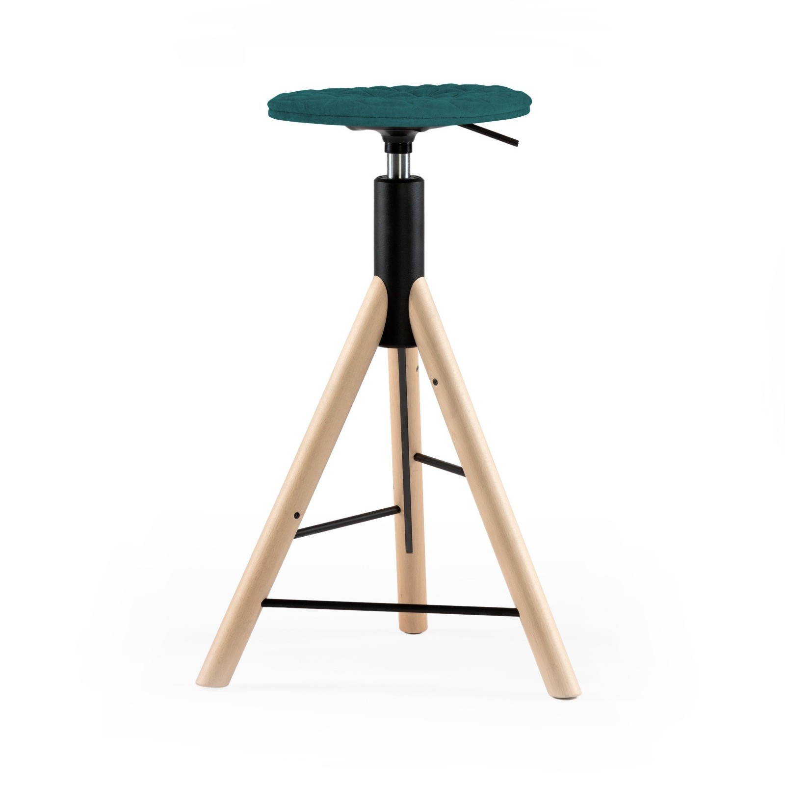 Krzesło barowe MannequinBar natural - 01 - turkus