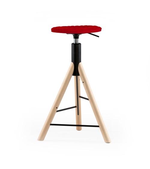 Krzesło barowe MannequinBar natural - 01 - czerwony