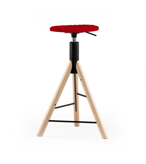 MannequinBar chair natural - 01 - red