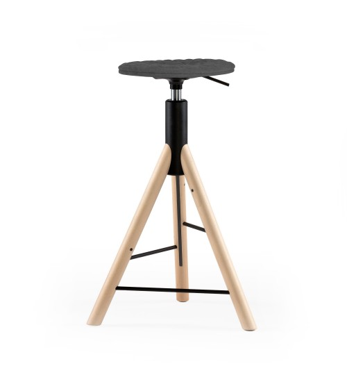 Krzesło barowe MannequinBar natural - 01 - szary