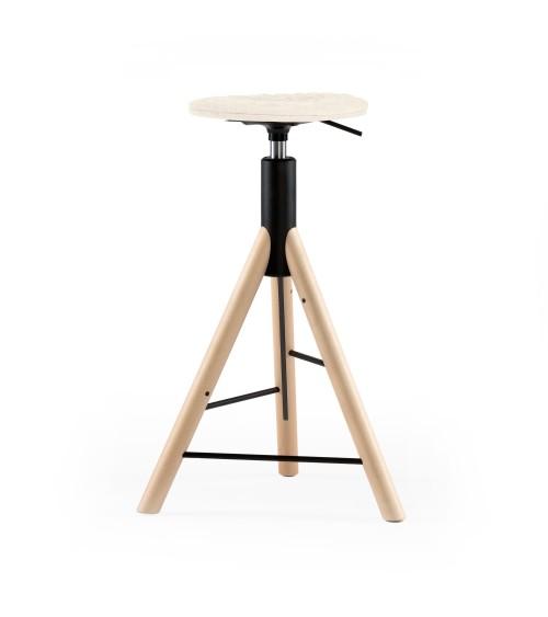 Krzesło barowe MannequinBar natural - 01 - ecru