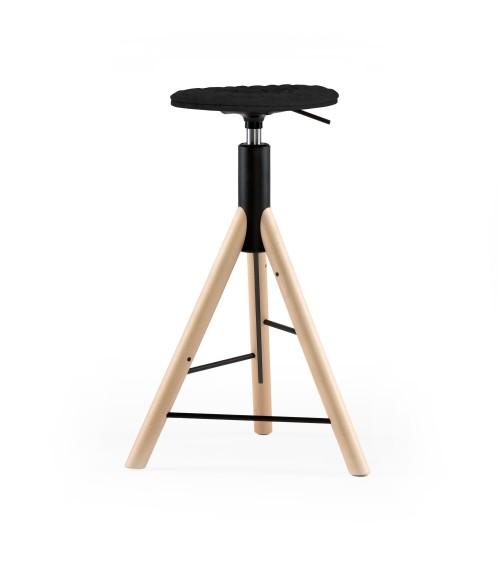 Krzesło barowe MannequinBar natural - 01 - czarny