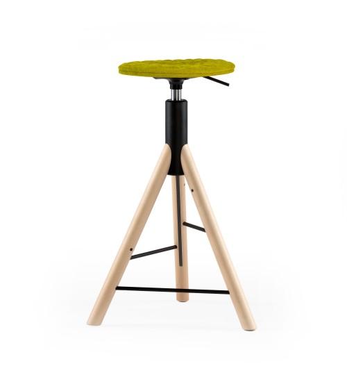 Krzesło barowe MannequinBar natural - 01 - zielony