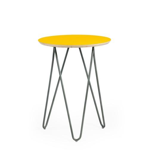 Stolik Zig-Zag R 40 - żółty