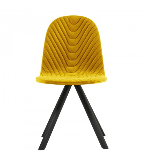 Mannequin chair - 01 - black - yellow