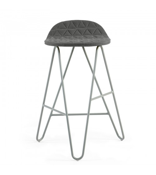 Krzesło barowe MannequinBar Low 02 - ciemno szary