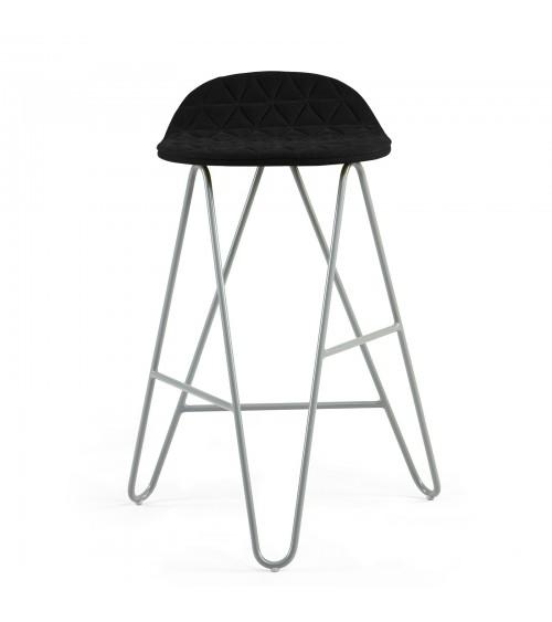 Krzesło barowe MannequinBar Low 02 - czarny