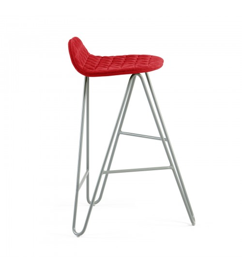 Krzesło barowe MannequinBar Low 02 - czerwony