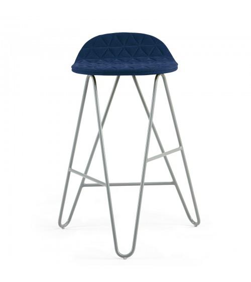 Krzesło barowe MannequinBar Low 02 - granat