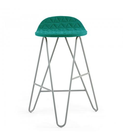 Krzesło barowe MannequinBar Low 02 - turkus