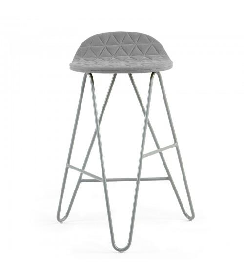 Krzesło barowe MannequinBar Low 02 - szary
