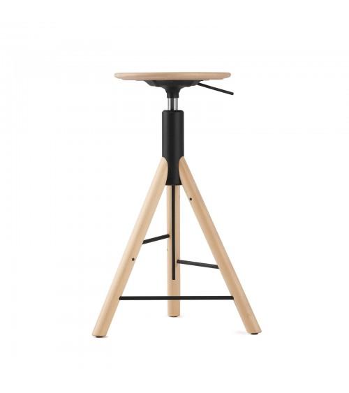 Krzesło barowe MannequinBar - 01 - wooden