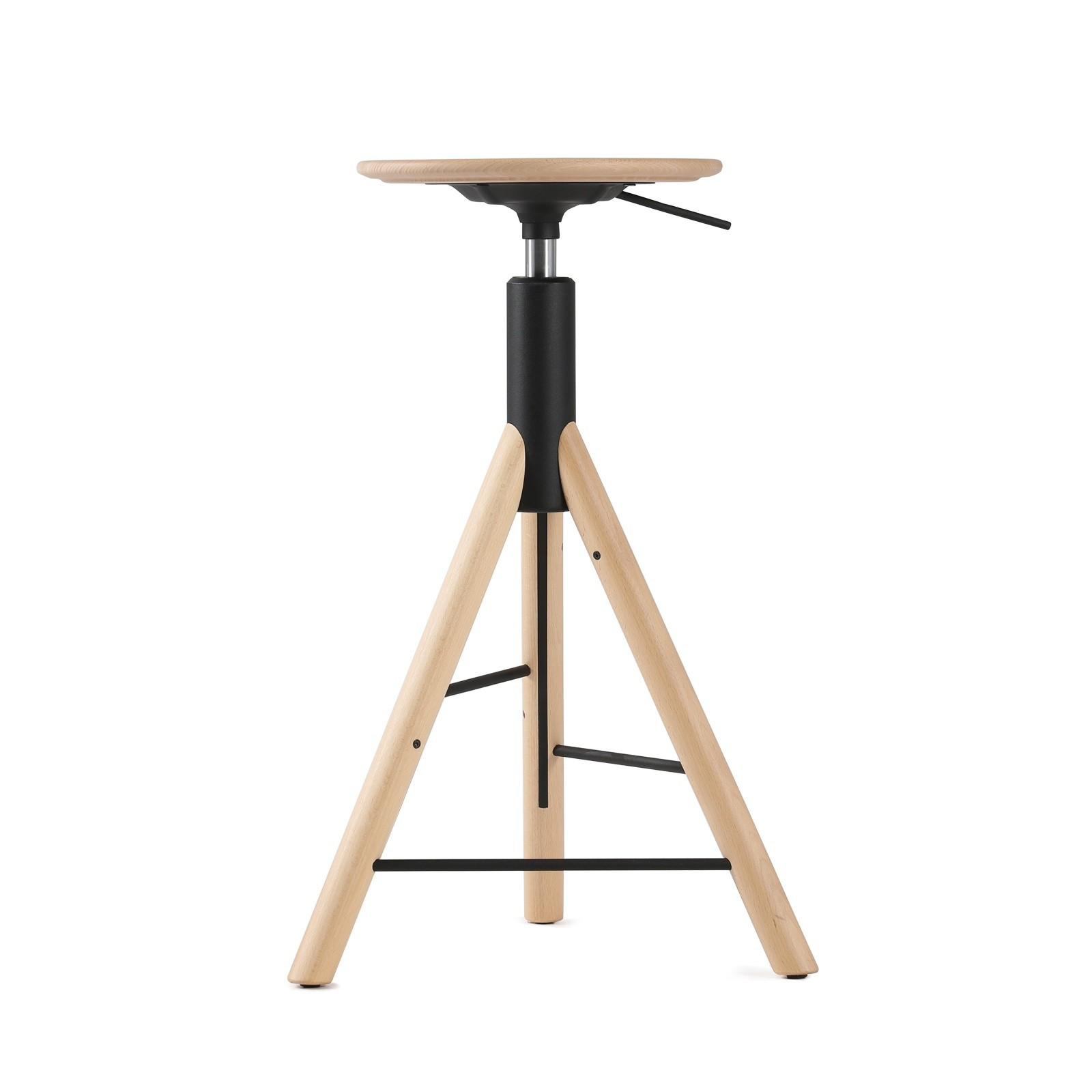 Krzesło barowe MannequinBar - 01 - drewniane