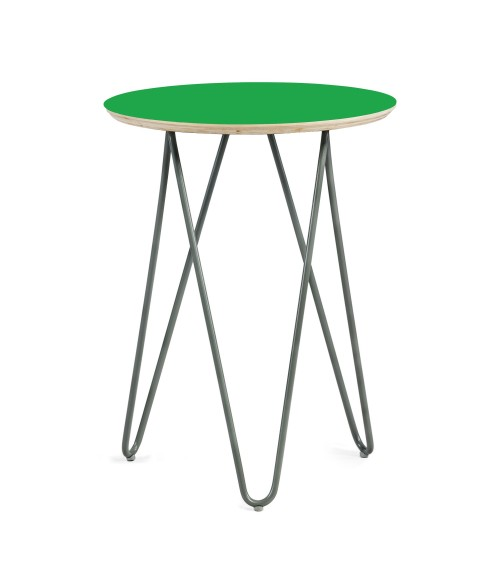 Coffe table Zig-Zag R 40 - green