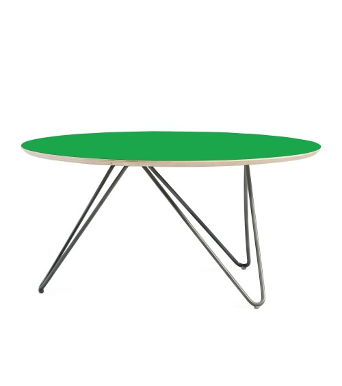 Stolik Zig-Zag R 75 - zielony
