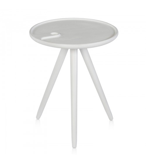 Flower coffee table - white
