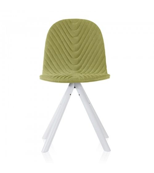 Mannequin chair - 01 white- light green