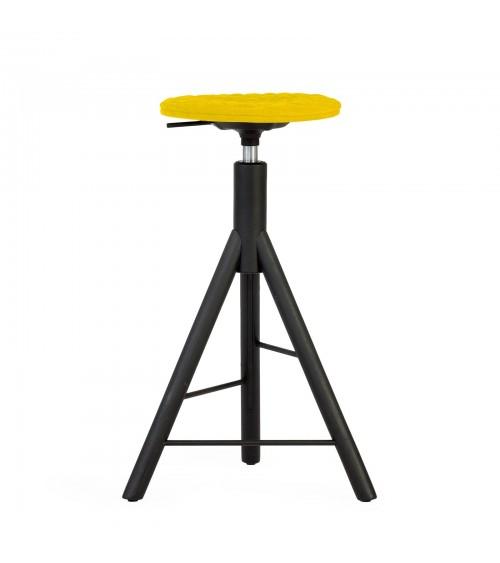 MannequinBar chair black - 01 - yellow