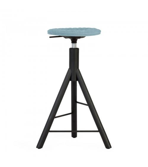 Krzesło barowe MannequinBar black - 01 - błękit