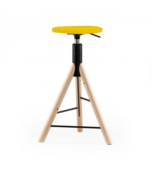 Krzesło barowe MannequinBar natural - 01 - żółty