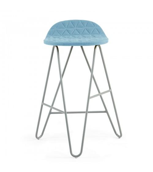 Krzesło barowe MannequinBar Low 02 - błękitny