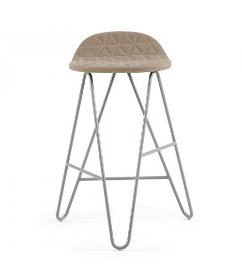 Krzesło barowe MannequinBar Low 02 - kawowy