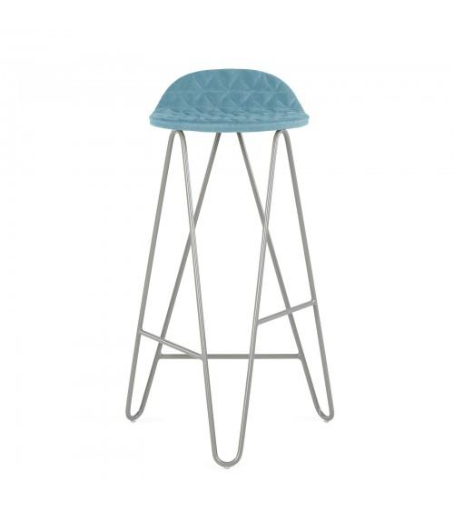 Krzesło barowe MannequinBar - 02 - błękitny
