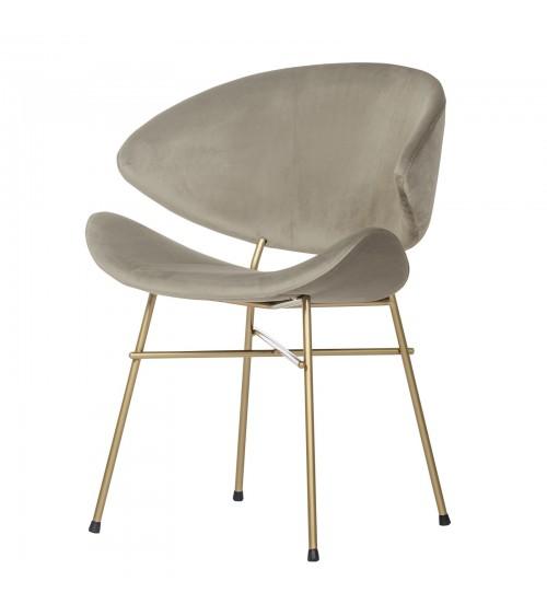 Krzesło Cheri Gold- velours - beżowe