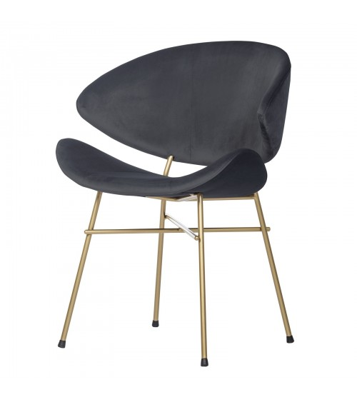 Cheri Gold - velours - chair - dark grey
