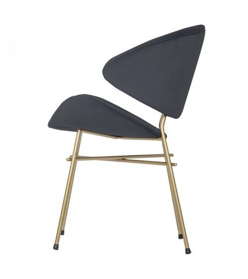 Cheri Gold - velours - chair - dark grey