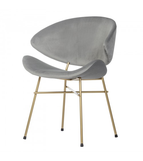 Cheri Gold - velours - chair - light grey