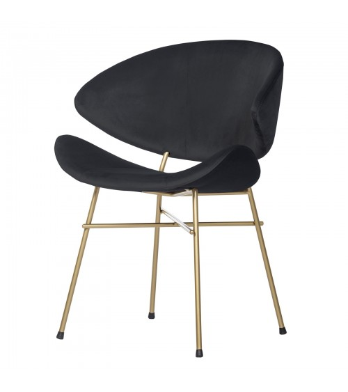 Cheri Gold - velours - chair - black
