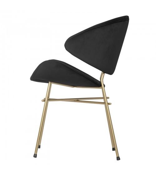 Cheri Gold - velours - chair - black