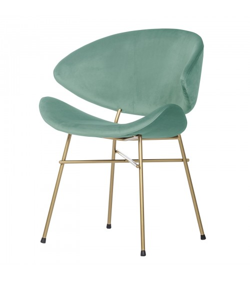 Cheri Gold - velours - chair - mint