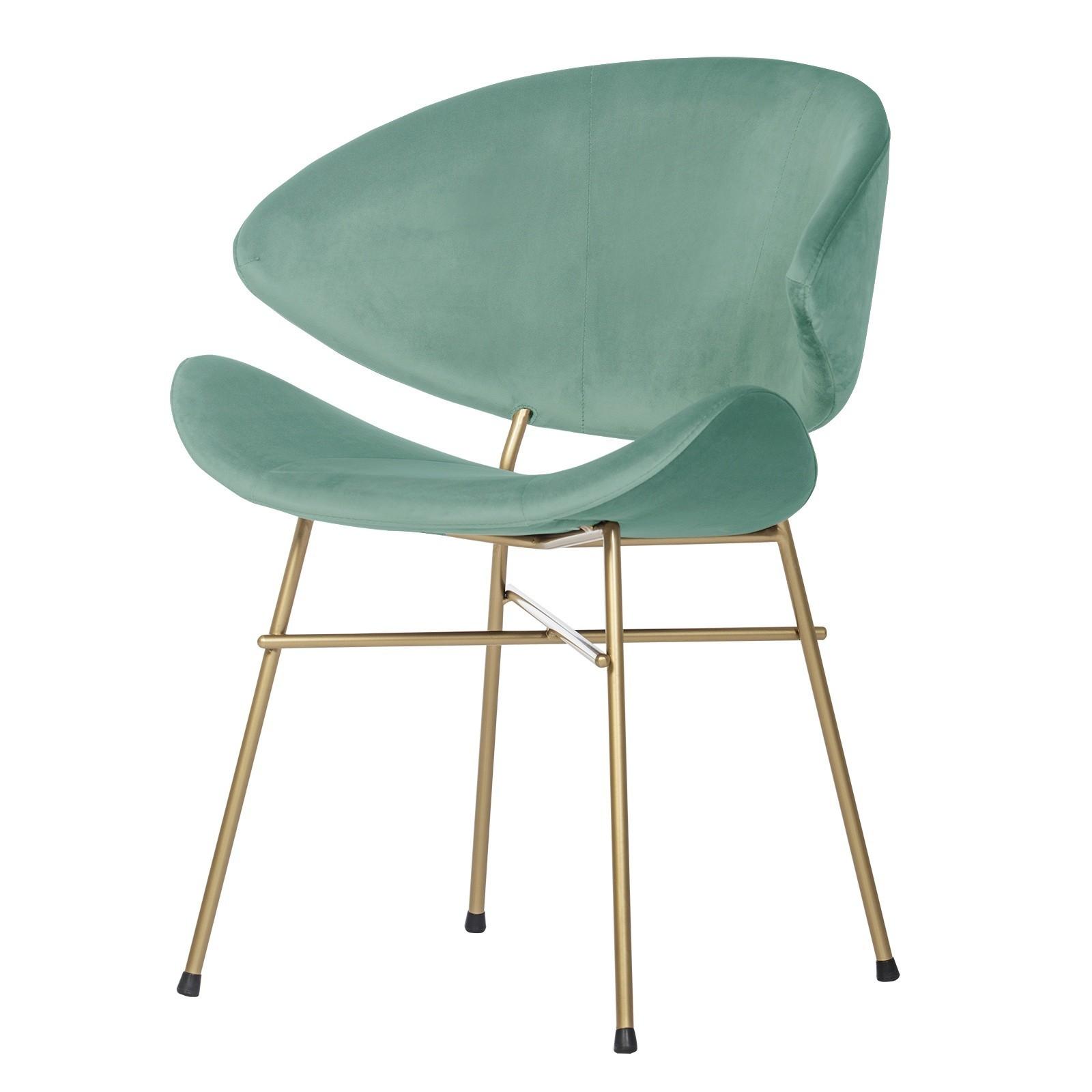 Krzesło Cheri Gold- velours - miętowy