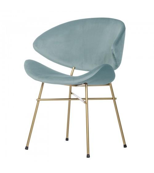 Krzesło Cheri Gold- velours - jasno niebieski
