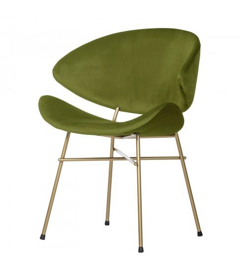 Krzesło Cheri Gold- velours - zielony