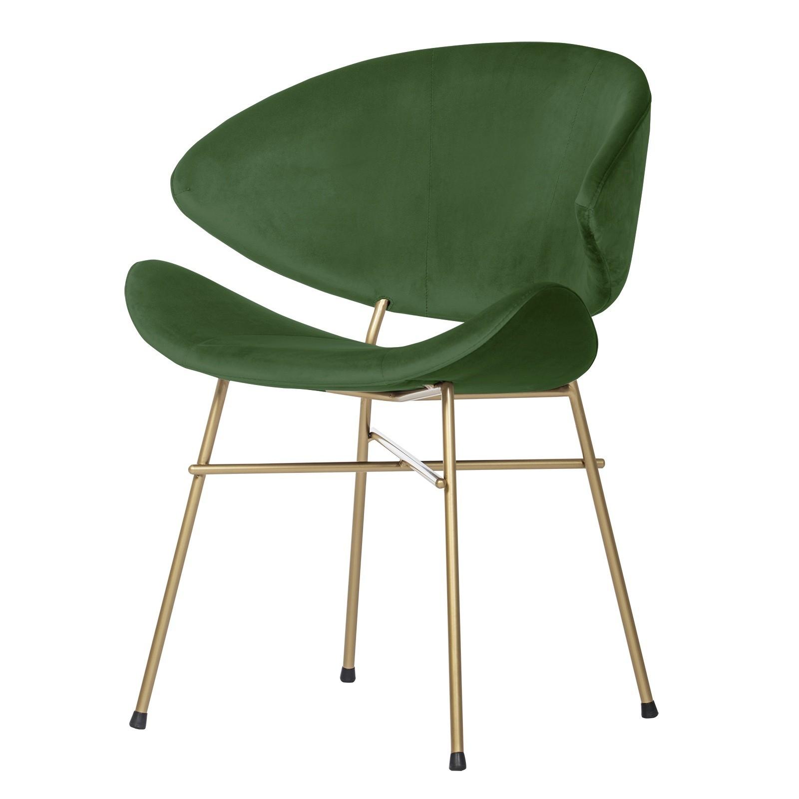Krzesło Cheri Gold- velours - butelkowa-zielen